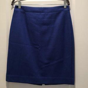 J.Crew wool-blend pencil skirt - blue size 6